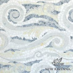 Tempest handmade mosaic in Opal, Quartz, Pearl, Absolute White, and Moonstone Sea Glass™ | The Sea Glass™ Collection by Sara Baldwin | New Ravenna