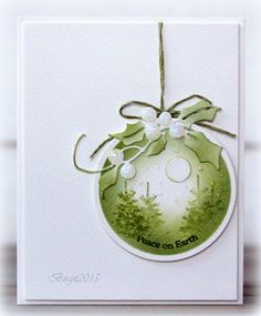 Love the simple elegance of this Christmas card