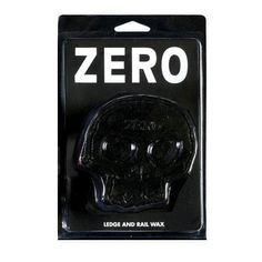 """Zero Skull Wax ( Black )  Thick 1 x 3.5."""" Ledge and rail wax. Imported. """" Features : Skate Wax *Skull Design  Color : Black Size : One Size Fits All"""