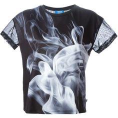Adidas Originals Smoke T-Shirt ($38) ❤ liked on Polyvore featuring tops, t-shirts, shirts, black, crew neck shirts, black crew neck t shirt, crewneck t-shirt, crew neck tee and black t shirt