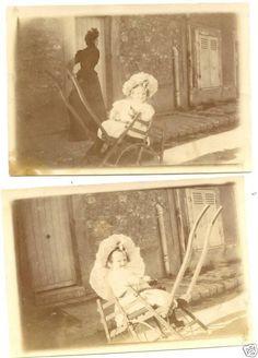"Baby Grand Duchess Olga Nikolaevna Romanova of Russia rocking and smiling in a wooden chair. ""AL"""