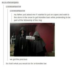 They just happened to have capes laying around...