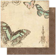 CozmArt - Scrapbooking - עיצוב אלבומים - דפים בודדים - Gabrielle - קארדסטוק מקולקציית Gabrielle מבית Bo Bunny