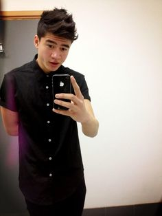 Twitter / Calum5SOS: It's a black button up kinda ...>>>>> Can it be a button down shirt instead?