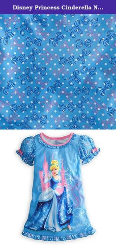 Disney Princess Cinderella Nightshirt Nightgown Pajamas Blue Pink (XXS 2-3 Extra Extra Small). Make her every bedtime a royal occasion with this Cinderella nightshirt. The Disney Princess poses in front of the castle as the starlight catches her ballgown on this glamorous sleepwear that's fitting for fairytale dreams.