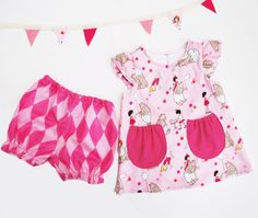 Baby Girl Pink Summer Dress set by wildthingsdresses on Etsy, £38.00