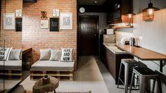 44 Small Studio Apartment Layout Design Ideas - adventure and living Studio Type Apartment, Studio Condo, Small Studio Apartments, Studio Apartment Decorating, Condo Decorating, Cool Apartments, Apartment Design, Studio Type Condo Ideas Small Spaces, Small Apartment Interior
