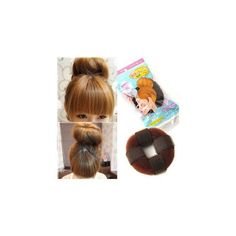 Hair Bun Maker ($9.52) ❤ liked on Polyvore featuring beauty products, haircare, hair styling tools, accessories and wig