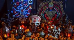 ॐ CULT OF FIRE - मृत्यु का तापसी अनुध्यान (Ascetic Meditation of Death) LP  卐 Wreaths, Halloween, Painting, Home Decor, Art, Homemade Home Decor, Door Wreaths, Painting Art, Paintings