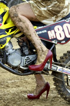 what a bad ass    I wont even wear my favorite motorcycle boots on a dirt bike because shifting eff's up the leather