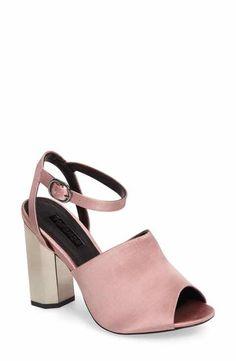 Topshop Regina Satin High Heel Sandal (Women)