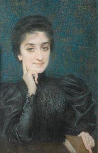 untitled picture by Lucien Lévy-Dhurmer (1865-1953), French Symbolist/Art Nouveau artist (lalitoutsimplement)