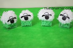 Sheep centerpieces and balloon holders