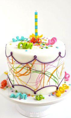 Toddler Art Birthday Cake Tutorial