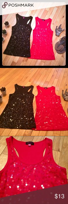 ❤🖤Sequin Tank Bundle🖤❤ These are in great condition; only worn a few times. GLO Tops Tank Tops