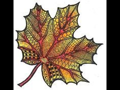 Autumn Leaf ║ Zen Doodle ║ Tiffany Lovering