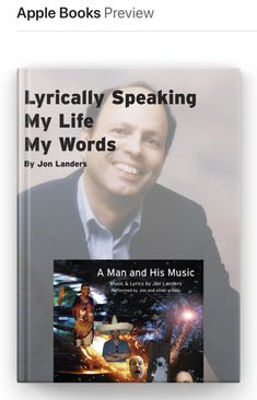 Now available is my autobiography published in Apple Books! Get yours today..... My Autobiography, Apple Books, Indie Music, Music Lyrics, My Life, Big, Words, Lyrics, Song Lyrics