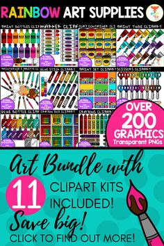 This bundle of cute and vibrant clipart features a variety of art related school supplies with great savings! The kit includes 201 images making it perfect for any Back-to-School worksheets or product covers! Click to find out more! #teacherspayteachers #art #clipart #backtoschool Math Clipart, Science Clipart, Elementary Teacher, Elementary Education, Teacher Pay Teachers, Back To School Worksheets, Back To School Activities, Valentines Day Clipart, Kindergarten Themes