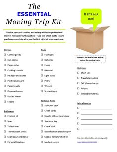 Use this check list when moving to make sure you have all the essentials for your first night in your new home. www.movepremier.com #movingtips #moving