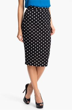 Bobeau Dot Midi Skirt available at #Nordstrom....hope it gets here soon   CB
