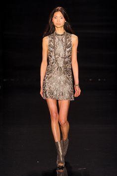 gorgeous beaded dresses on JP runway
