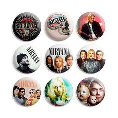 Nirvana Pinback Button Pin Badge (Pack of 9) FREE SHIPPING