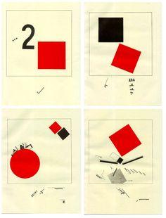 El Lissitzsky. Historia suprematista de la lucha de 2 cuadrados. 1920