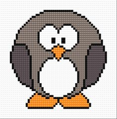 Pinguin (bird, winter, snow, water, ice, for children)