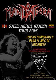 METALHOUSE: MANDRAGORA - STEEL METAL ATTACK | Ecuador - Colombia 2015. Fechas Confirmadas en Diciembre.