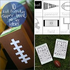 Repinned: kid friendly super bowl party ideas