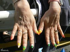 We love the fact that the volunteer Tourmakers went to so much effort - this volunteer even painted her nails in celebration Yorkshire, Effort, Celebration, Nails, Finger Nails, Ongles, Nail, Yorkshire Terrier Puppies, Nail Manicure