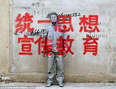 The Invisible Man,Liu Bolin. Art and political statement go hand in hand in China's emerging art scene.