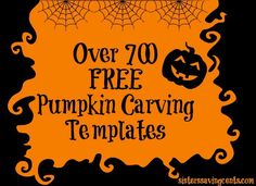 Over 700 FREE pumpkin stencils, including Disney, Nick Jr, Angry Birds, Hello Kitty, Military,and many more!