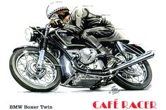 Motorcycle Art BMW Cafe