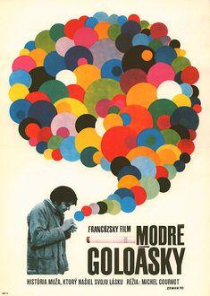 1970 Czech poster forLES GAULOISES BLEUES(Michel Cournot, France, 1968)  Designer:Václav Zeman(b. 1934)  Poster source:Terry PostersviaArem Duplessis