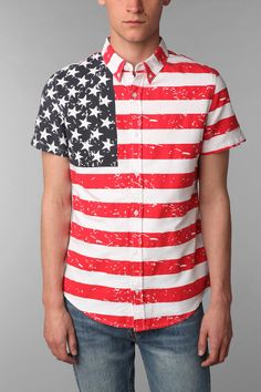 Your Neighbors American Flag Short-Sleeve Shirt Online Only