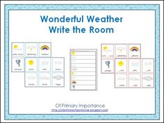 """Wonderful Weather"" Write the Room (free)"