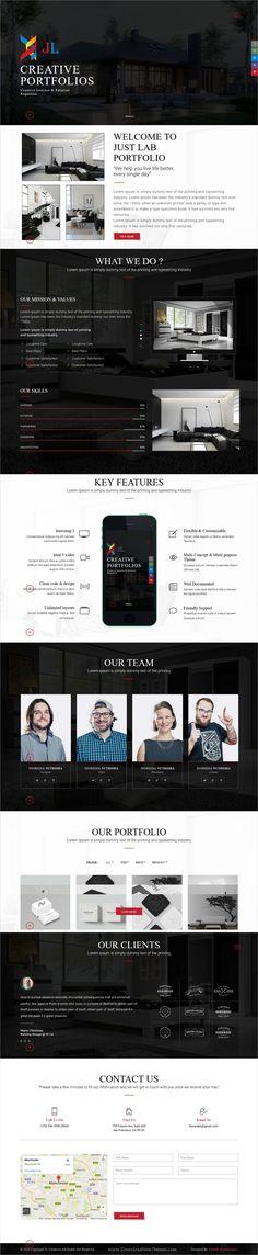 KROME - Pure \ Minimal Creative Portfolio \/ Agency \/ Photography - company portfolio template