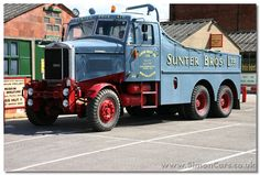 """Scammel Junior Constructor, 1964, 6x4 (the """"Senior"""" was 6x6), a mkassive tractor that could also push loads."""