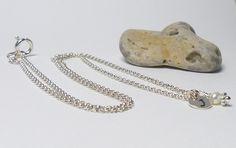 925 Silberkette ♥ Sweet Initial ♥ handgestempelt von Andressâ auf DaWanda.com