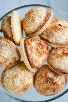 """TRIPLE LEMON MACAROON CURD-FILLED SABLE ~~~ sable is the french word for """"sandy."""" this classic dough produces cookies with a remarkably delicate crumbly texture. [hungryrabbitnyc]"""