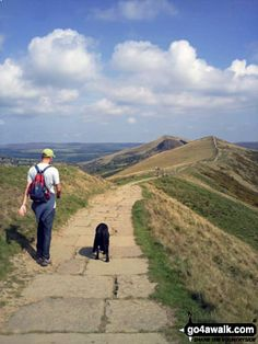 Walk Picture/View: One man and his dog, a gorgeous day walking from Mam Tor to Hollins Cross in The Peak District, Derbyshire, England by Helen Rimmer (1)