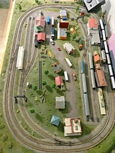 N Scale Model Train LayoutYou can find Model train layouts and more on our website.N Scale Model Train Layout N Scale Train Layout, Ho Train Layouts, N Scale Layouts, N Scale Model Trains, Scale Models, Train Ho, Lionel Trains Layout, Model Railway Track Plans, Ho Trains