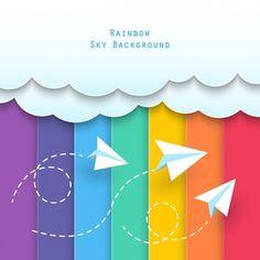 Nuvens com aviões de papel                                                                                                                                                                                 Mais