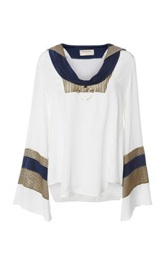 This Zeus + Dione Pharos Nautical Blouse features a signature nautical cut with golden details. Long Sleeve, Sleeves, Shopping, Clothes, Collection, Women, Fashion, Outfits, Moda