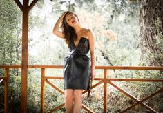 MLM Nightshade Leather Dress pictured by WInston & Willow