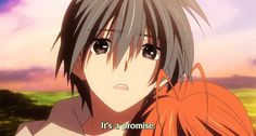 (gif) Nagisa looks so sad! As if she already knows... ;__;