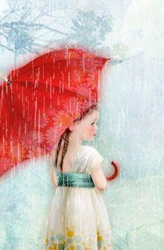 umbrellas.quenalbertini: My red umbrellas | Miharu Yokota