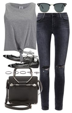 """""""Untitled #3044"""" by plainly-marie ❤ liked on Polyvore featuring J Brand, Daniele Michetti, Vero Moda, Ray-Ban, Viktor & Rolf and Luxury Fashion"""