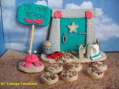 To The Beach Fairy Garden Kit Fairy Door by KCCottageCreations
